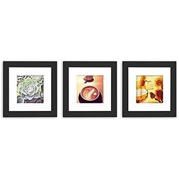 Amazon.com - 3-set, Tiny Mighty Frames - Wood Square Instagram Photo ...