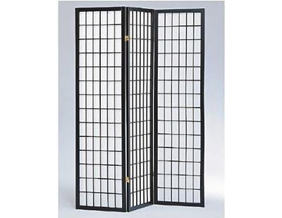 Panel Shoji Screen Room Divider 3 - 10 Panel Black