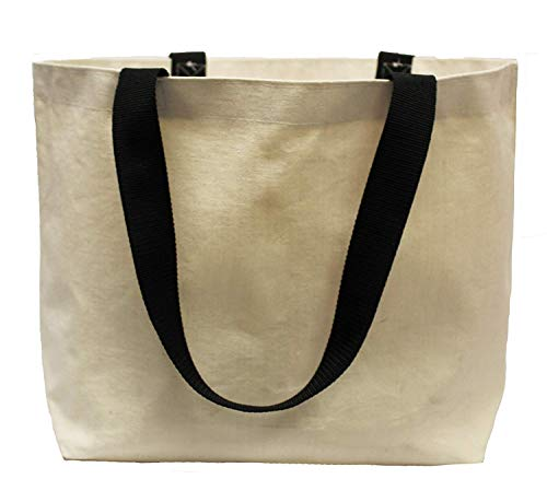 Earthwise Extra Large Grocery Bag Beach Shopping Tote Heavy Duty 12 oz Cotton Canvas Multi Purpose 20 inches x 14 inches Proudly Made in the USA (Natural)