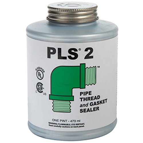 Gasoila PLS2 Premium Pipe Thread and Gasket Sealer, -100 to 600 Degree F, 1 pint Can ()