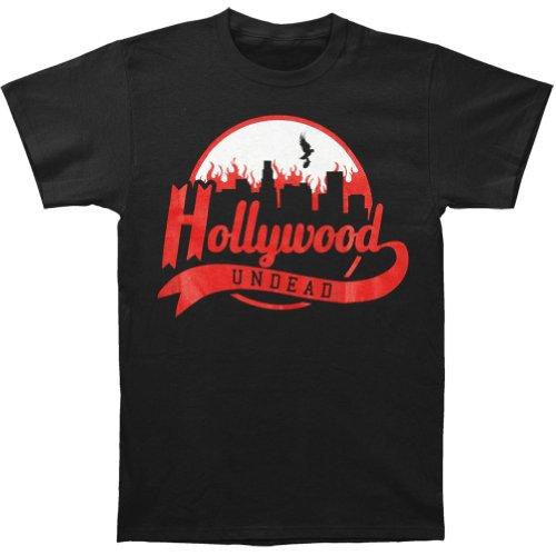 Hollywood Undead Men's Burning City Tee T-shirt Black