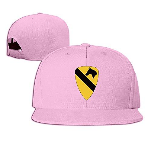 1 Cav Shoulder Insignia Fashion Unisex Flat Along Baseball Cap Pink
