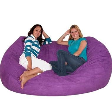 Cozy Sack 7-Feet Bean Bag Chair, X-Large, Purple