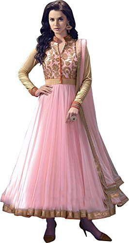 RUHANI-Womens-Anarkali-Salwar-Kameez-Designer-Indian-Dress-Bollywood-Ethnic-Party-One-Size-Pink