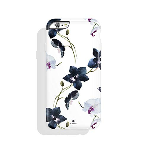 (iPhone 6/6s case Floral, Akna Collection High Impact Flexible Silicon Case for Both iPhone 6 & iPhone 6s [Vintage)