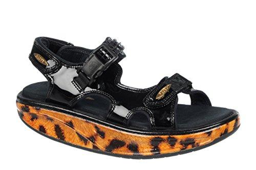Mbt Womens Kisumu 3 Walking Sandal (ltd), Gold Leopard Gold Leopard