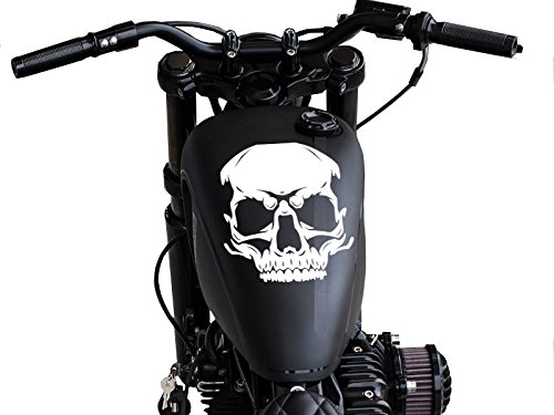 FGD Motorcycle Decal Round Skull Tank Top Universal
