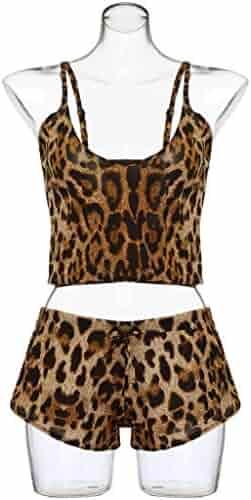 2af07939a56 New Lingerie THENLIAN Women Plus Size Sexy Lingerie Bow Leopard Underwear  Sleepwear Set(L