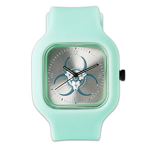 seafoam-fashion-sport-watch-biohazard-symbol