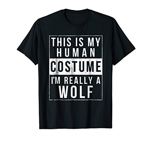 Wolf Halloween Costume Shirt Funny Easy Gift
