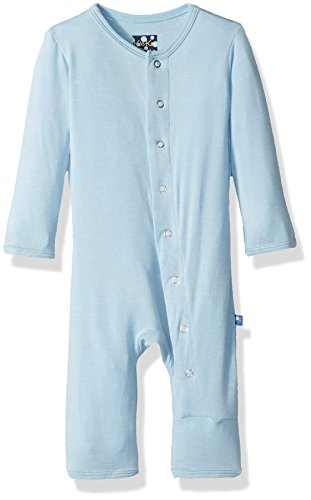 Kickee Pants Baby Boys' Essentials Solid Fitted Coverall, Pond, 12-18 Months