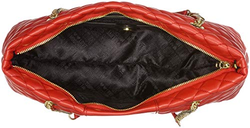 Red Quilted Moschino Borsa Satchel Women's Love Pu Rosso Nappa FRO0ZFqnx