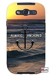 Cool Painting Always Anchored Ocean Sunset Beach Anchor Unique Quality Soft Rubber Case for Samsung Galaxy S4 I9500 - White Case
