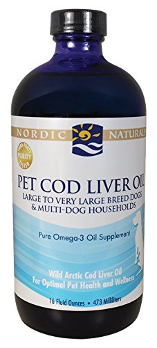 Nordic Naturals Pet CLO Supplement - Cod Liver Oil Omega 3s, DHA, EPA, Promotes Skin, Coat, Joint and Heart Health and Vitamin A for Vision, Fetal Development and Wellness, Liquid 16 Ounces