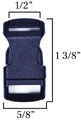 BoredParacord Contoured Side Release Black Plastic Buckle Multiple Sizes and Quantity Bored Paracord