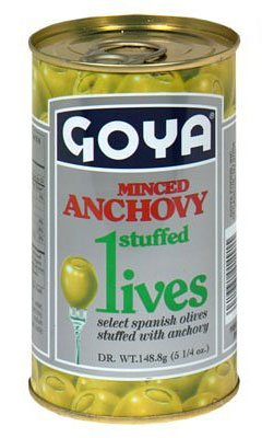 Goya Stuffed Olives Minced Anchovies 5.25 Ounces (Pack of 04)