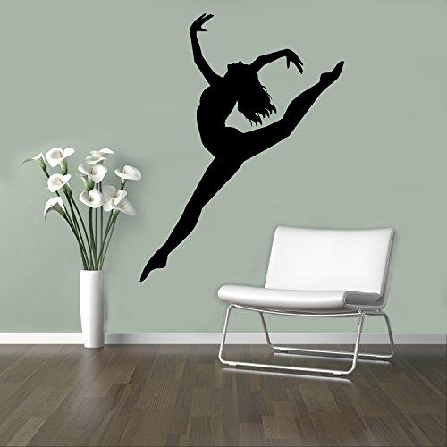 Ballet Dancer Wall Decal Acrobatics Ballerina Vinyl Sticker Party Home Wall Art Decor Ideas Interior Removable Design 5(dng)