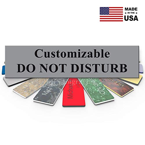 LHS Signs   Customizable Please Do Not Disturb Sign Name Plate for Office,  Cubicle Privacy, Recording, Therapists, Gray Plastic & Black Letters   USA