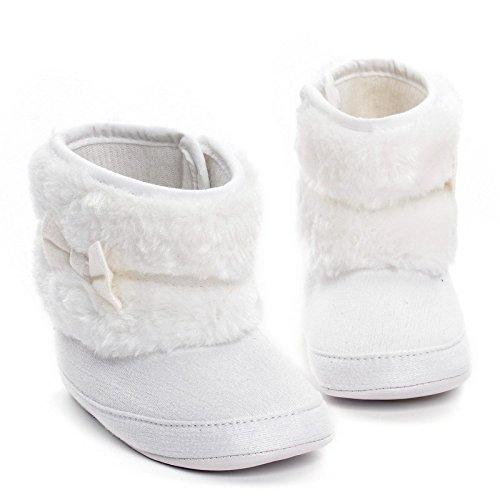 Baby Mädchen Warm Winter SchneestiefelKrippe Schuhe Kleinkind Stiefel Weiß