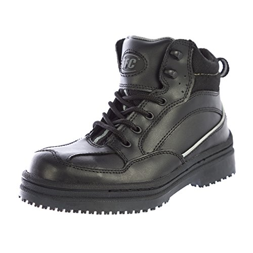 Shoes for Crews Men's Neo Leather Boots 5255 Size 4 Black