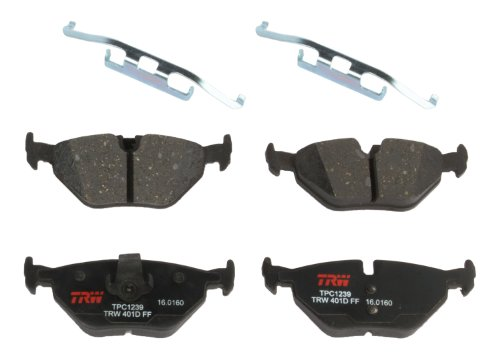 TRW TPC1239 Premium Ceramic Rear Disc Brake Pad (Bmw 318ti Brake Disc)