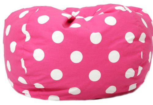 Bean Bag Chair, Candy Pink Polka Dot