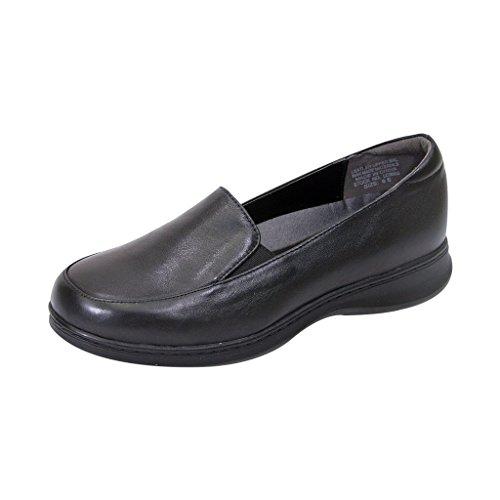 FIC PEERAGE Olivia Women Extra Wide Width Comfort Loafer BLACK 8.5 (Shoes Ladies Dress Wide Width)