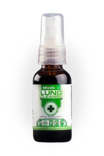 Infowars Life - Lung Cleanse Spray (1 fl. oz) - Organic Herbs & Essential Oils for Respiratory Support - Vegan, Non-GMO & Gluten Free