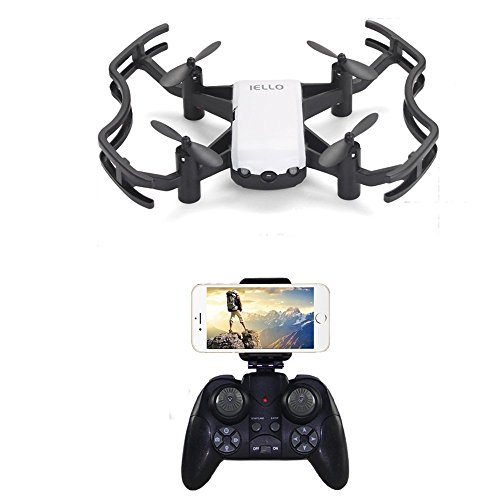 RC Quadcopter with HD Camera,WiFi FPV Gesture Controlled Drone with Self-Timer Function,App Control Drone Gravity Sensor,Remote Control Quadcopter with Altitude Hold,Headless Mode and Emergency Stop
