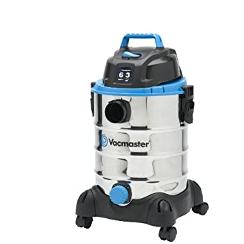 Vacmaster 6 Gallon, 3 Peak HP, Stainless Steel Wet/Dry Vacuum, VQ607SFD