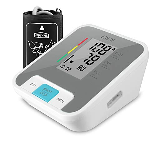 Blood Pressure Monitor,Accurate Automatic Upper Arm Bp MachinePulse Rate Monitoring Meterwith Device Bag by BGMKE, 22-44cm Cuff Size, 2-User, 240 Reading Memory, Voice Announce, FDA Approved ()