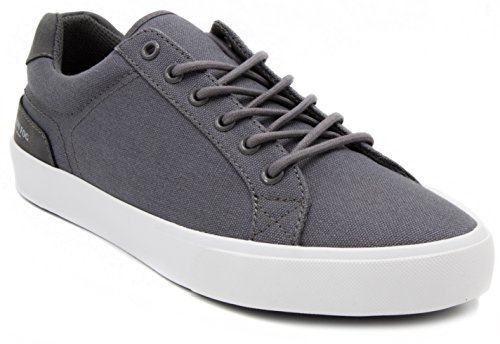 London Fog Mens Bayswater Canvas Sneaker Grey 9 Canvas Mens Sneakers