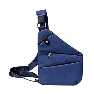 Waterproof Personal Shoulder Pocket Bag - Anti Theft (Blue-Left Shoulder)