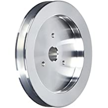 March Performance 511 Clear Powdercoat Aluminum 1-Groove Press Fit Power Steering Pulley