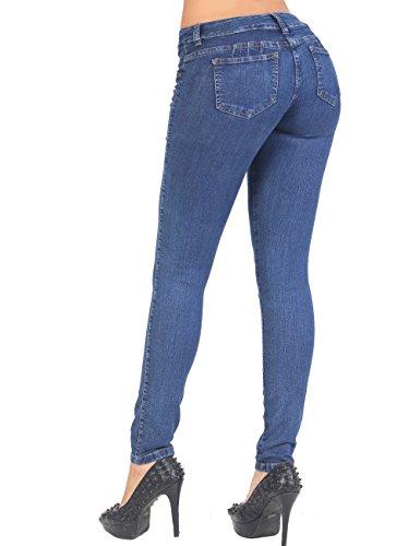 - Curvify Stretch Butt Lifting Skinny Denim Jeans   Pantalones Levantacola (600,IndigoWASH,9)
