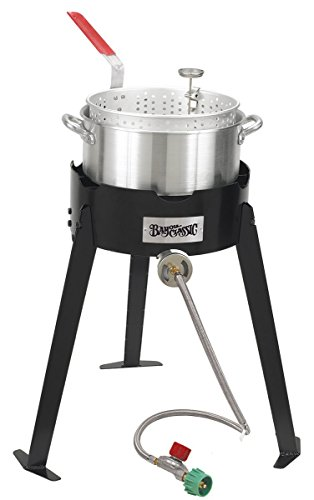 Bayou Classic 2212 Fish Cooker Set, Black and Silver ()