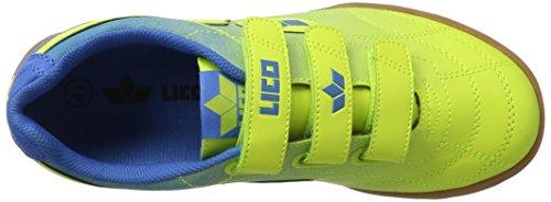 Lico Bernie V, Zapatillas Deportivas para Interior Unisex Adulto Amarillo (Lemon/blau)