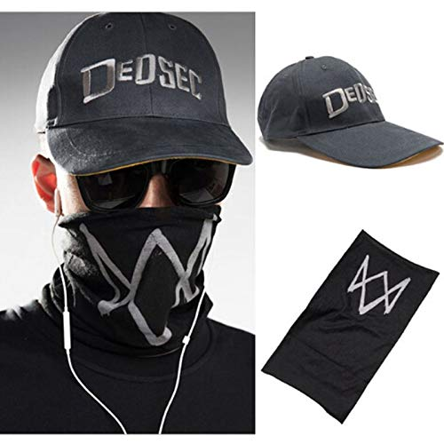 Party Masks - Unisex Black Face Mask Game Watch Dogs 2 Wd2 Marcus Holloway Cosplay Dedsec Hat Cap Party Halloween - Costumes Inflatable Mask Games Party