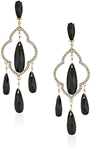 kate spade new york Chandelier Black Drop Earrings