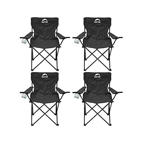 Kenai Set de 4 sillas de Campo (Negro)