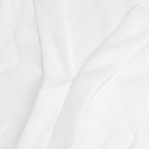 Fashion Tank con Slim S Big Top Collo Bianco Canotta Tee chiffon Elegante Adeshop Pure 5xl Camicetta Su sezione V Size a Donna Beach scollo maniche in Camicia senza lunga Adqw458