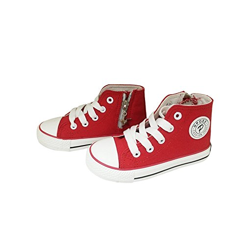 losver Kids' Chuck Taylor Side Zip High Sneaker Cyan Space 4 colors available Red11 M US Little Kid