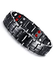 Medical energy bracelet with pure germanium stone for disposal of negative electrical charges in the body and balance of men with a frame of stainless steel