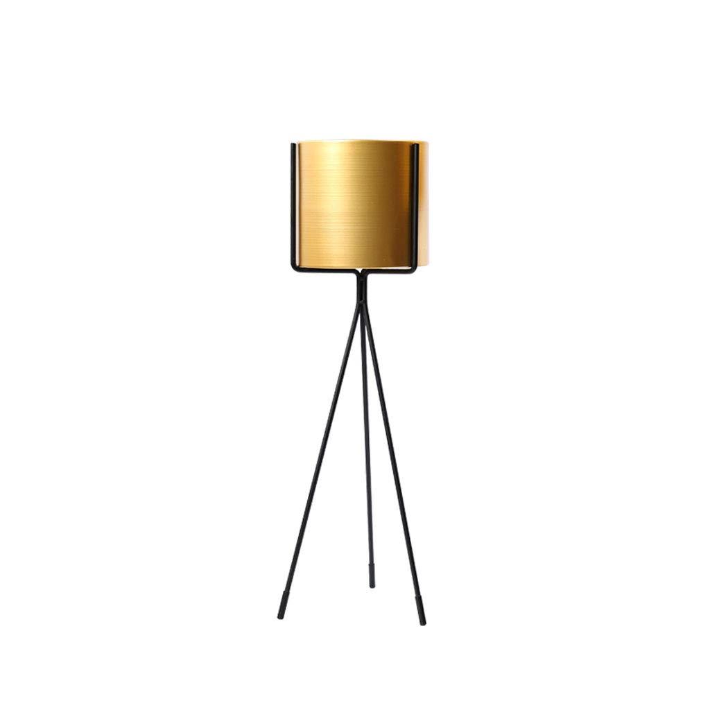 CXQ Moderno Semplice Fiore in Ferro battuto Stand Outdoor Indoor Balcone Metallo a Terra Multi-Funzione verde Terra Negozio di Fiori oroen Flower Pot Rack (Dimensione   M)