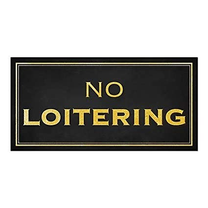 Classic Gold Window Cling No Loitering CGSignLab 24x12 5-Pack