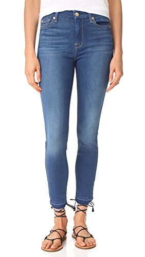 7 For All Mankind Women's B(air) Skinny Jeans with Released Hem, B(air) Manhattan, (Seven For All Mankind Lightweight Jeans)