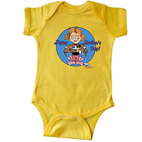 inktastic - Happy Mother's Day Redhead Infant Creeper Newborn Yellow 35b05