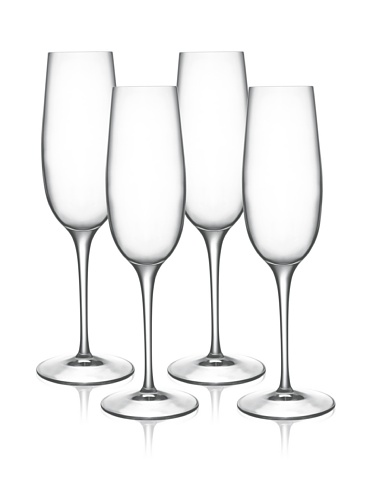 Luigi Bormioli Set of 4 Allegro 8-Oz. Champagne Flute Glasses