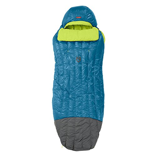 Nemo Men's Disco 15-Degree Insulated Down Sleeping Bag, Deep Sea/Key Lime, Regular