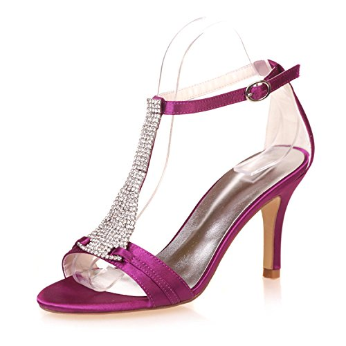 Platform Purple Donna Peep yc Tacchi Da 07a Toe 9920 Sposa Alti L Scarpe 0qFB7